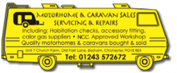 Motorhome & Caravan Sales, Servicing and Repairs
