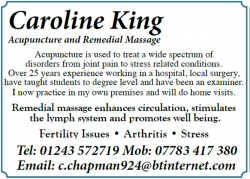 Caroline King Acupuncture and Remedial Massage