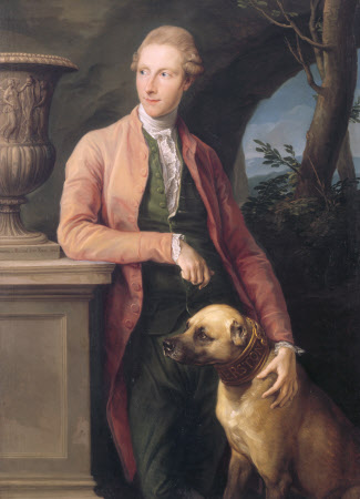 SIR HARRY FETHERSTONHAUGH by Pompeo Batoni (1708-87) at Uppark. 54x39 1/2 in. Signed and dated 1776 (Rome). Photographed in September 1994. Credit: Uppark, The Fetherstonhaugh Collection (accepted in lieu of tax by H. M. Treasury and allocated to The National Trust in 1990).