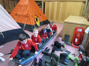 Children from Thorney Island Primary School