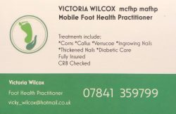 Victoria Wilcox Mobile Foot Health